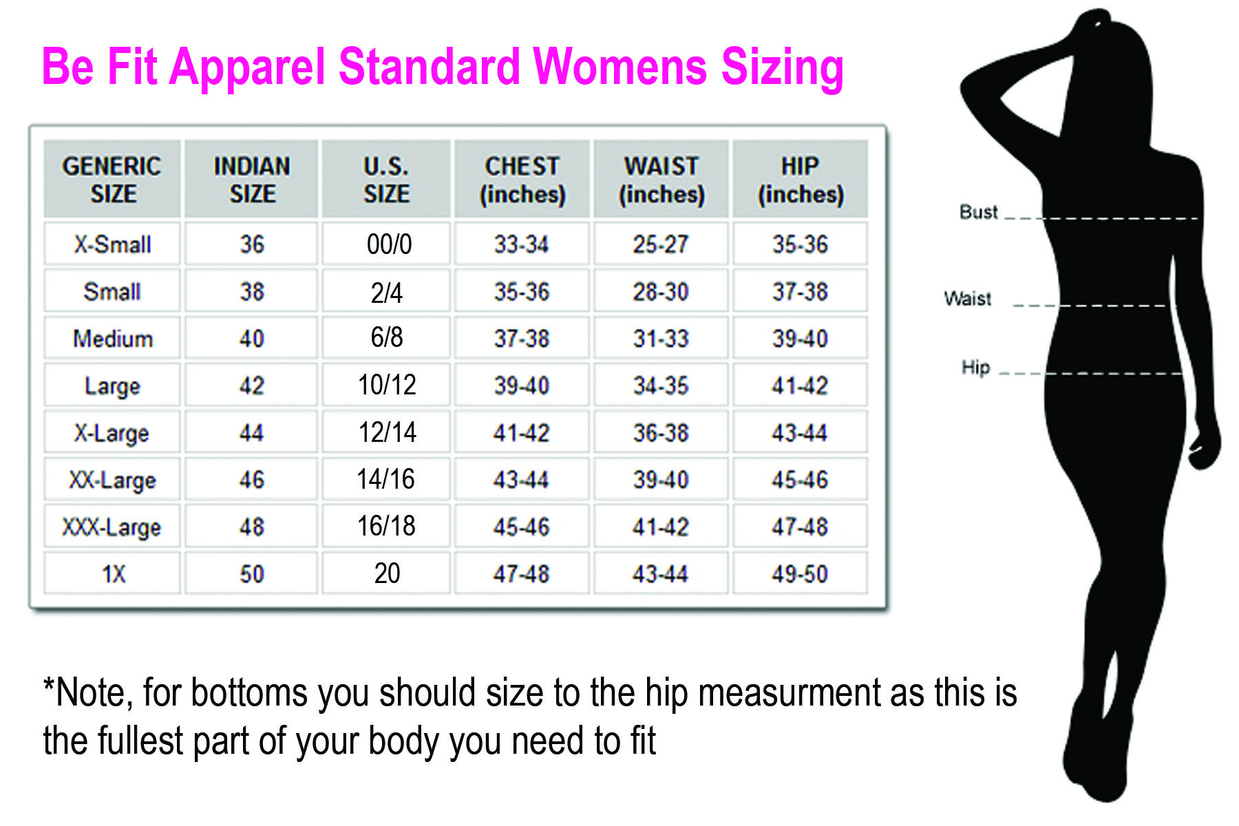Sizing be fit apparel international sizing conversion chart some measurments may vary and inch or so geenschuldenfo Choice Image